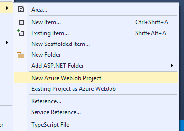 WebJobs from the IDE